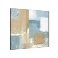 Blue Beige Brown Abstract Painting Canvas Wall Art Print ...