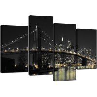 Canvas Wall Art of New York for your Office - 4 Part