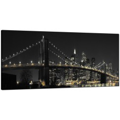 Buy Sofa Bed New York Compact Pull Out Panoramic Canvas Art Of Brooklyn Bridge For Your ...