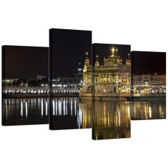 Canvas Prints For Living Room Designs With Gray Walls Sikh Wall Art Of Golden Temple Amritsar Your Display Gallery Item 4 Cheap 130cm X 68cm 4195 5