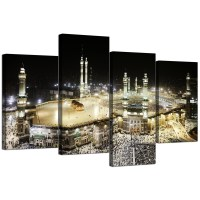 Islamic Canvas Pictures of Mecca Kaaba at Hajj for Bedroom ...