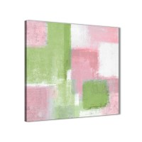 Pink Lime Green Kitchen Canvas Wall Art Accessories ...