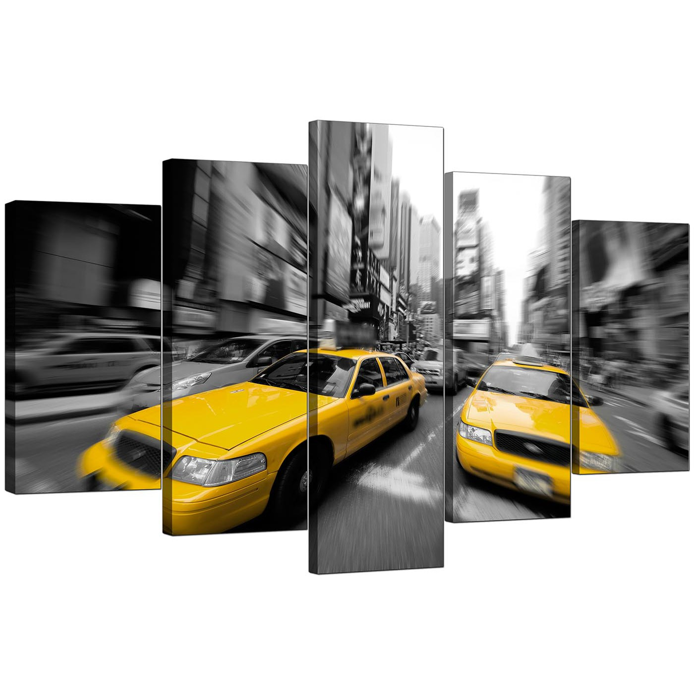 cheap 3 piece living room set small and kitchen ideas large yellow new york taxi canvas prints of 5 in black ...