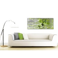 Lime Green Grey Abstract Painting Wall Art Print Canvas ...