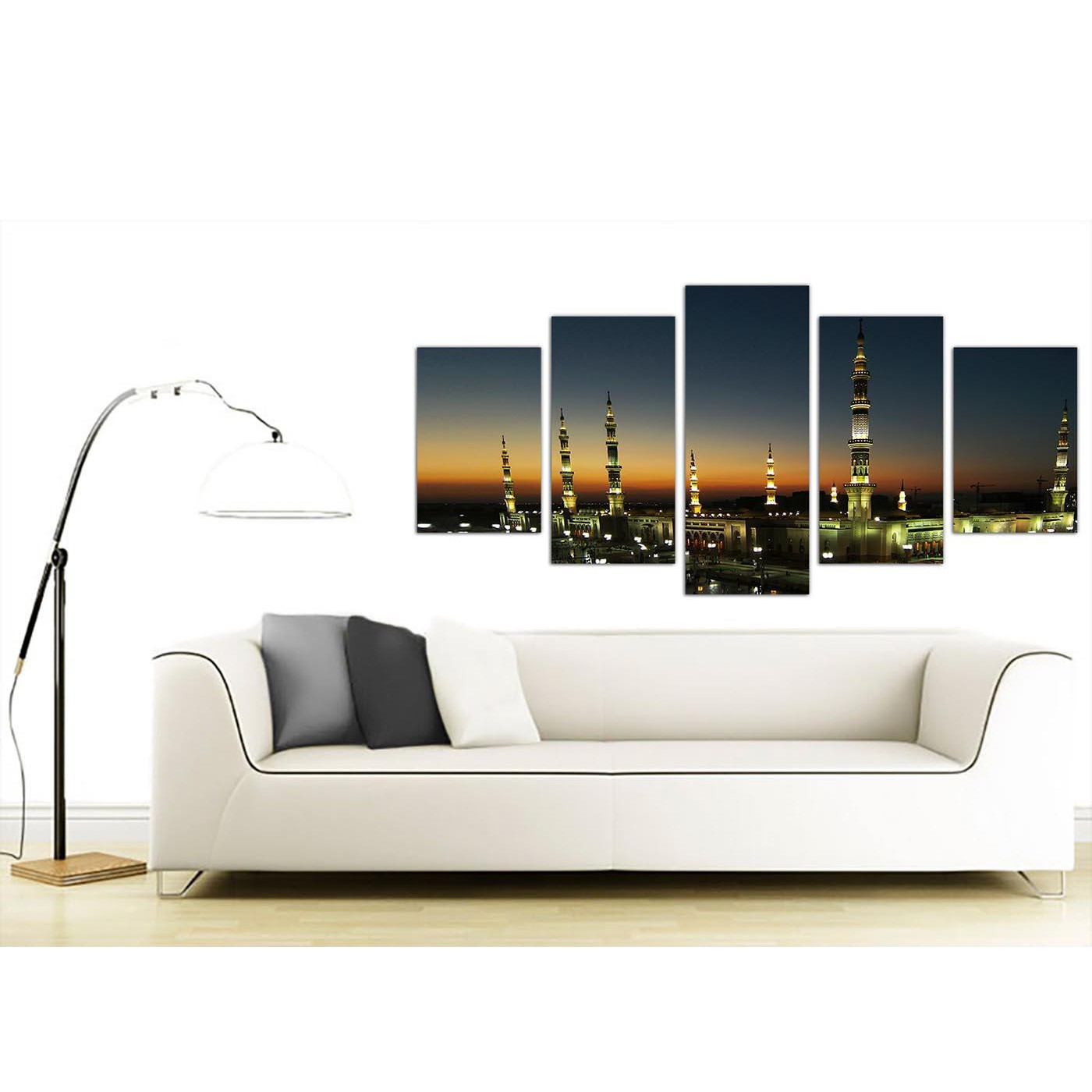 canvas prints for living room amazon curtains al masjid an nabawi your 5 panel display gallery item 1 extra large religious pictures 5230 2