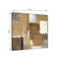 Brown Cream Beige Painting Abstract Dining Room Canvas