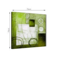 Lime Green Painting Abstract Dining Room Canvas Wall Art ...