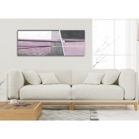Lilac Grey Painting Living Room Canvas Wall Art ...