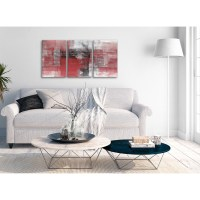 3 Piece Red Black White Painting Bedroom Canvas Wall Art ...