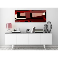 Red Black Painting Living Room Canvas Wall Art Accessories