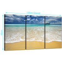Cheap Tropical Beach Canvas Art Set of Three for your ...
