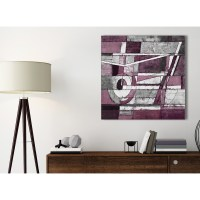 Plum Grey White Painting Bathroom Canvas Pictures ...