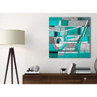 Turquoise Grey Painting Kitchen Canvas Wall Art ...
