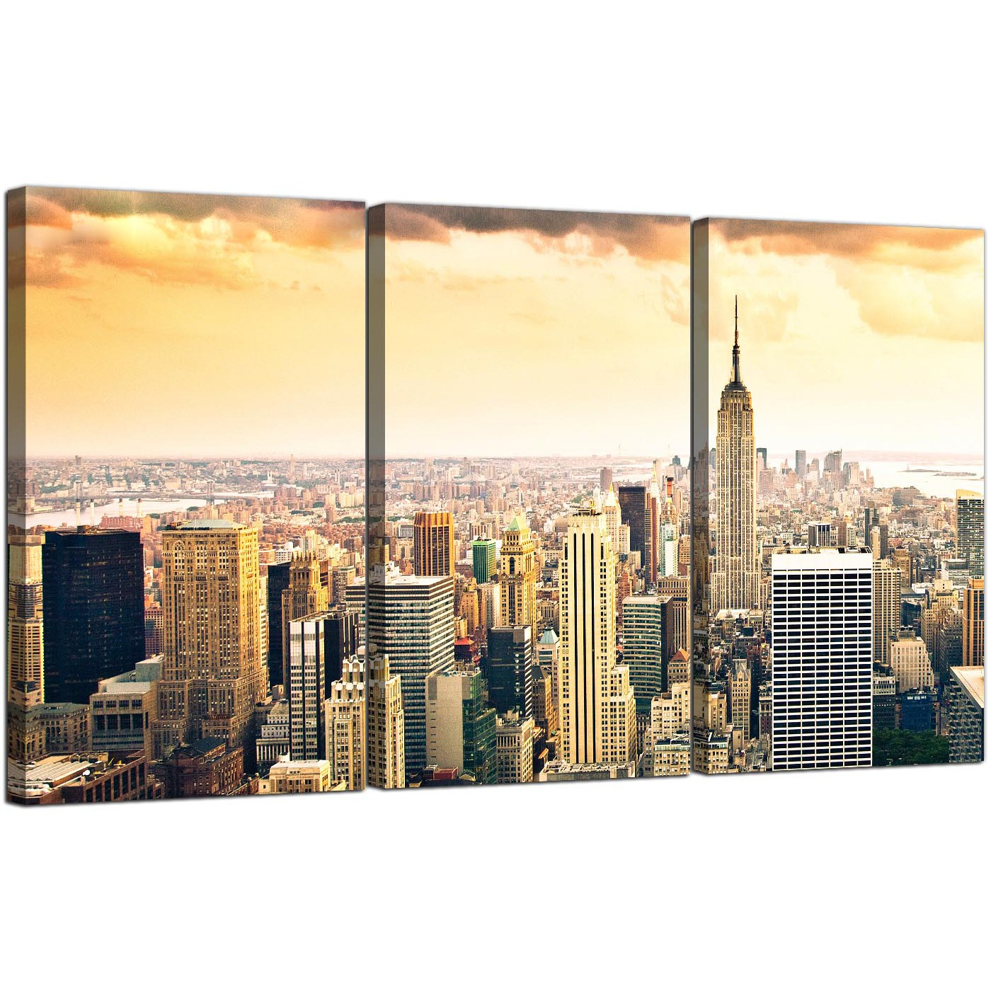 Extra Large New York Skyline Canvas Pictures Panel For Your Bedroom ...
