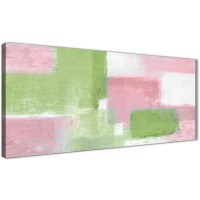 Pink Lime Green Living Room Canvas Wall Art Accessories ...