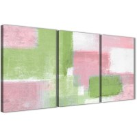 3 Piece Pink Lime Green Dining Room Canvas Wall Art ...