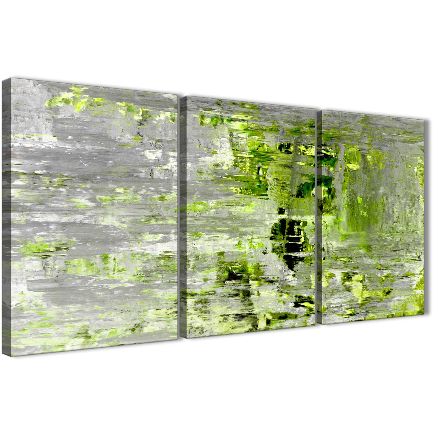 100 cm wide sofa bed baby chair lime green grey abstract painting wall art print canvas ...