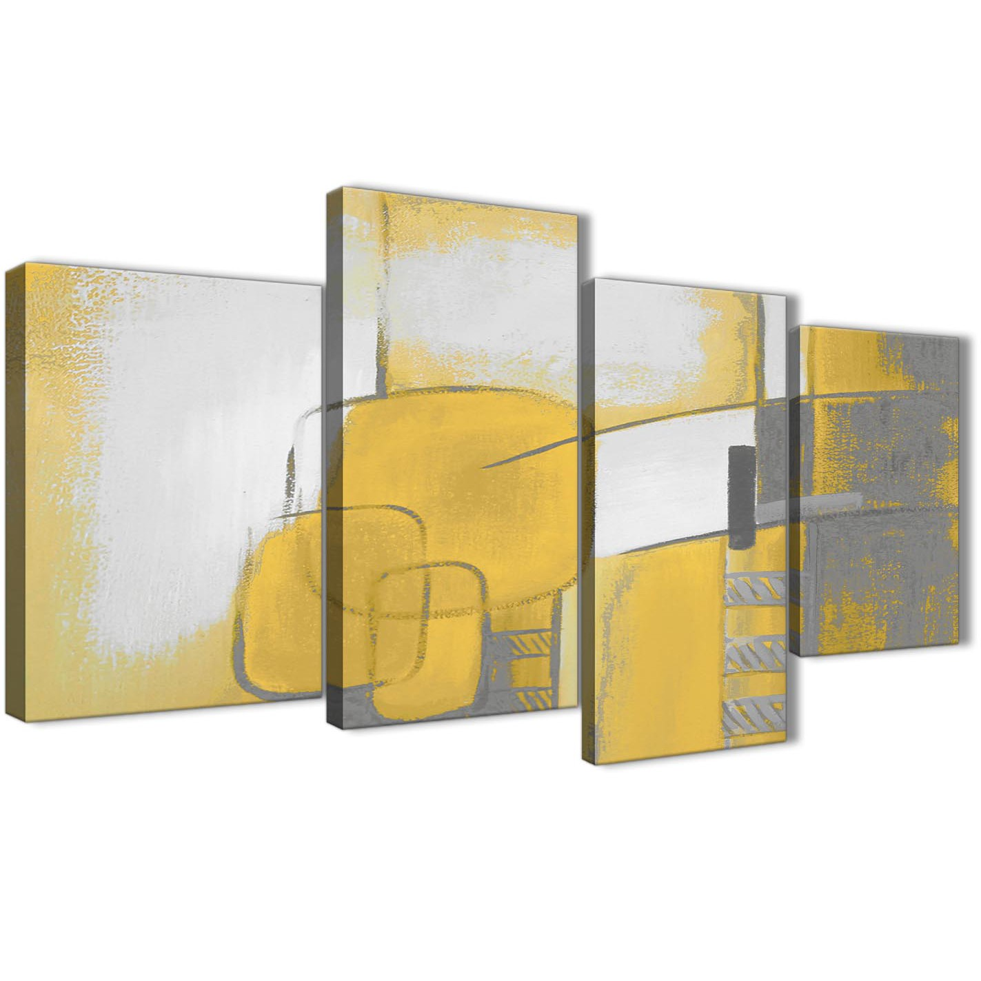 dfbce844f7a Large Mustard Yellow Grey Painting Abstract Bedroom Canvas Pictures ...