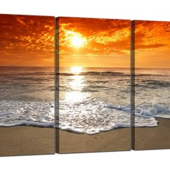 Cheap Cream Sofa How To Make Covers At Home Beach Sunset Canvas Prints Uk Set Of 3 For Your ...