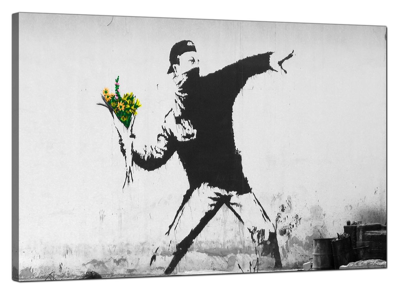 buy sofa bed new york australia online banksy canvas prints - flower thrower