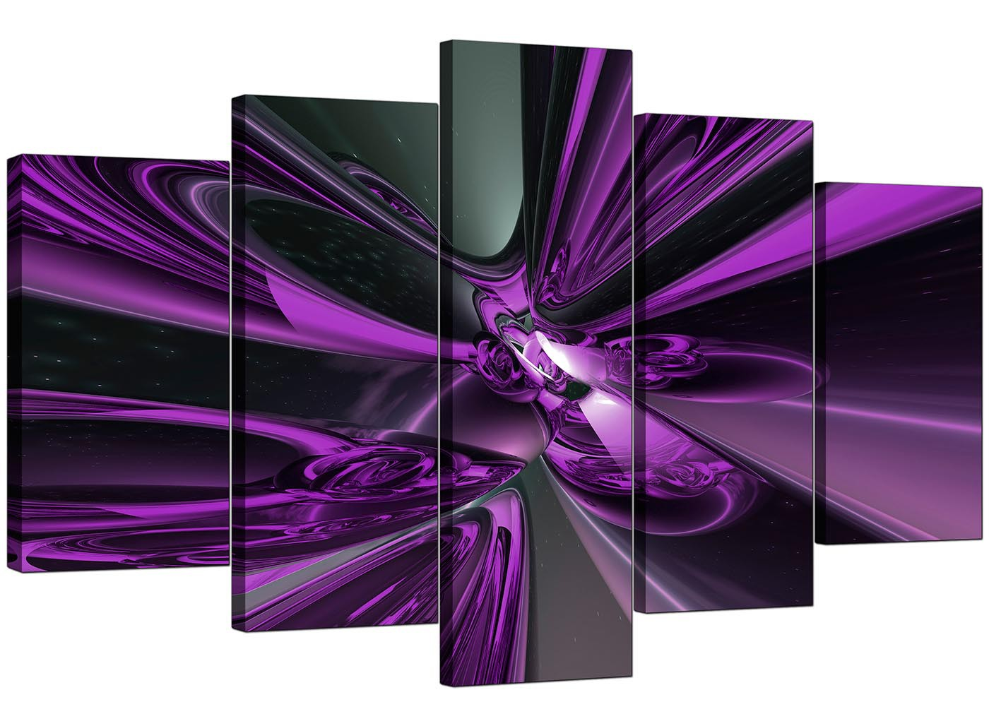 Extra Large Purple Abstract Canvas Prints UK 5 Piece