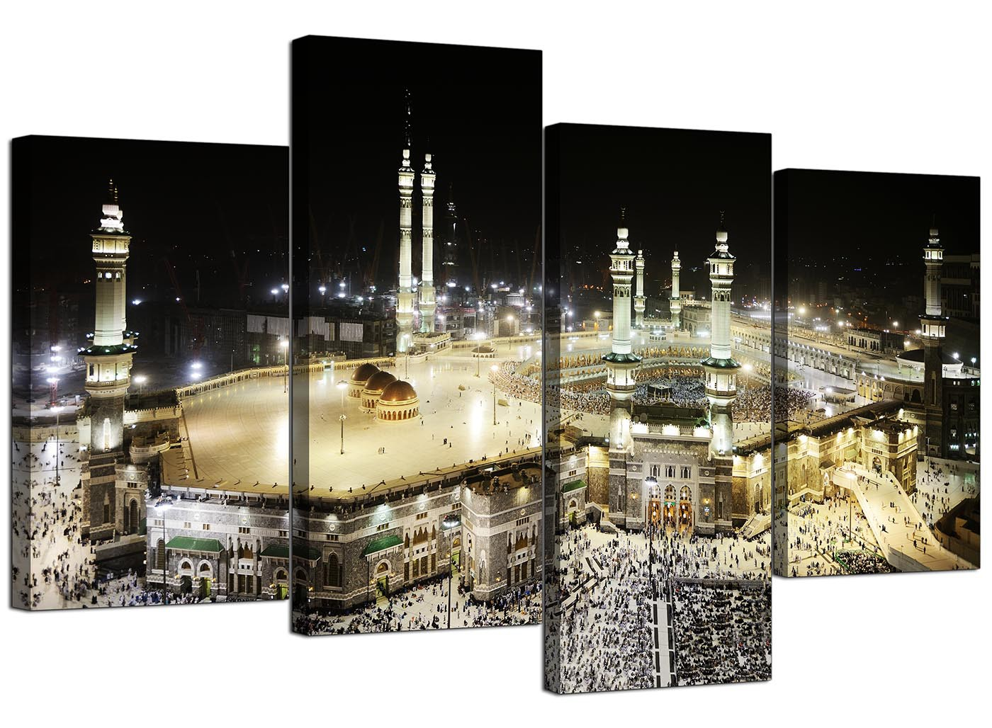 Islamic Canvas Pictures of Mecca Kaaba at Hajj for Bedroom