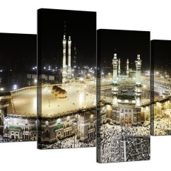 Cheap Cream Sofa Bed Vancouver Islamic Canvas Pictures Of Mecca Kaaba At Hajj For Bedroom ...