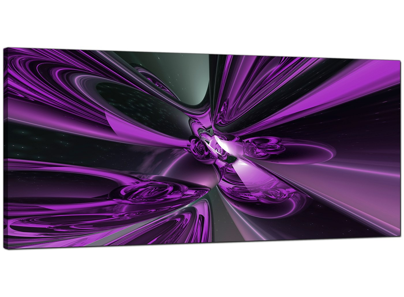 cheap 3 piece living room set benches in purple abstract canvas art (120cm x 50cm) - 'cenop'