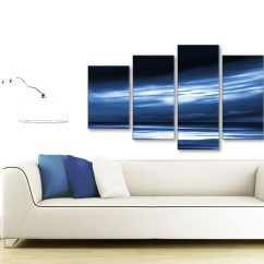 100 Cm Wide Sofa Bed Manufacturers In South Wales Extra Large Indigo Blue White Abstract Sunset Modern ...