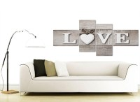 Large Shabby Chic Love Quote - Grey Canvas Wall Art Prints ...