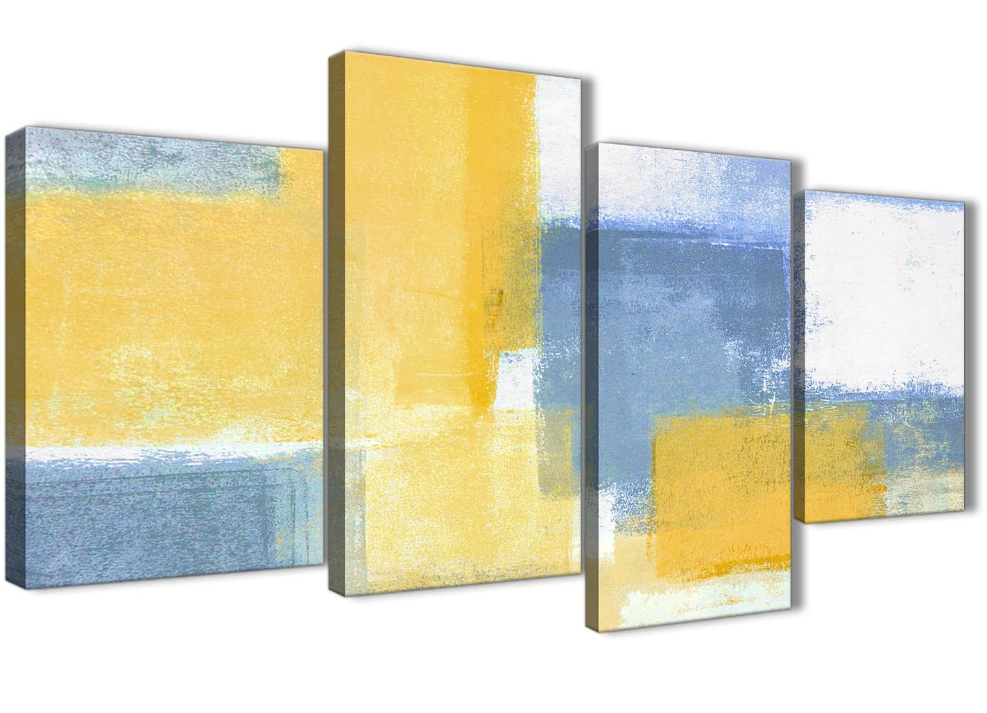 Metal Wall Art Abstract Modern Decor Sculpture Radiance Blue Yellow ...