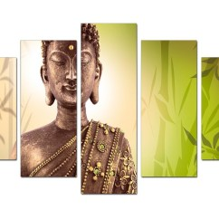 Amazon Sofa Set Atlanta Suede Bed Extra Large Buddha Canvas Wall Art 5 Piece In Green