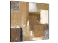 Brown Cream Beige Painting Abstract Dining Room Canvas ...
