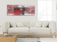 Red Black White Painting Living Room Canvas Wall Art ...