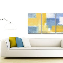 100 Cm Wide Sofa Bed Disposal London 3 Piece Mustard Yellow Blue Kitchen Canvas Pictures Decor ...