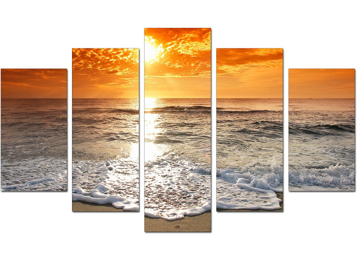 red living room set grey purple ideas beach sunset canvas prints for your - 5 part