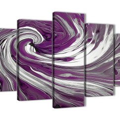 100 Cm Wide Sofa Bed Contemporary Red Extra Large Purple White Swirls Modern Abstract Canvas ...