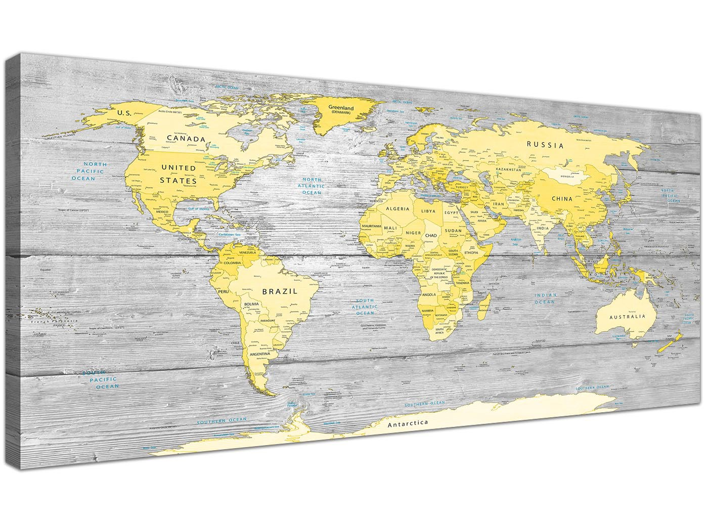 pink sofa bed for sale high back sofas sydney large yellow grey map of world atlas canvas wall art print ...