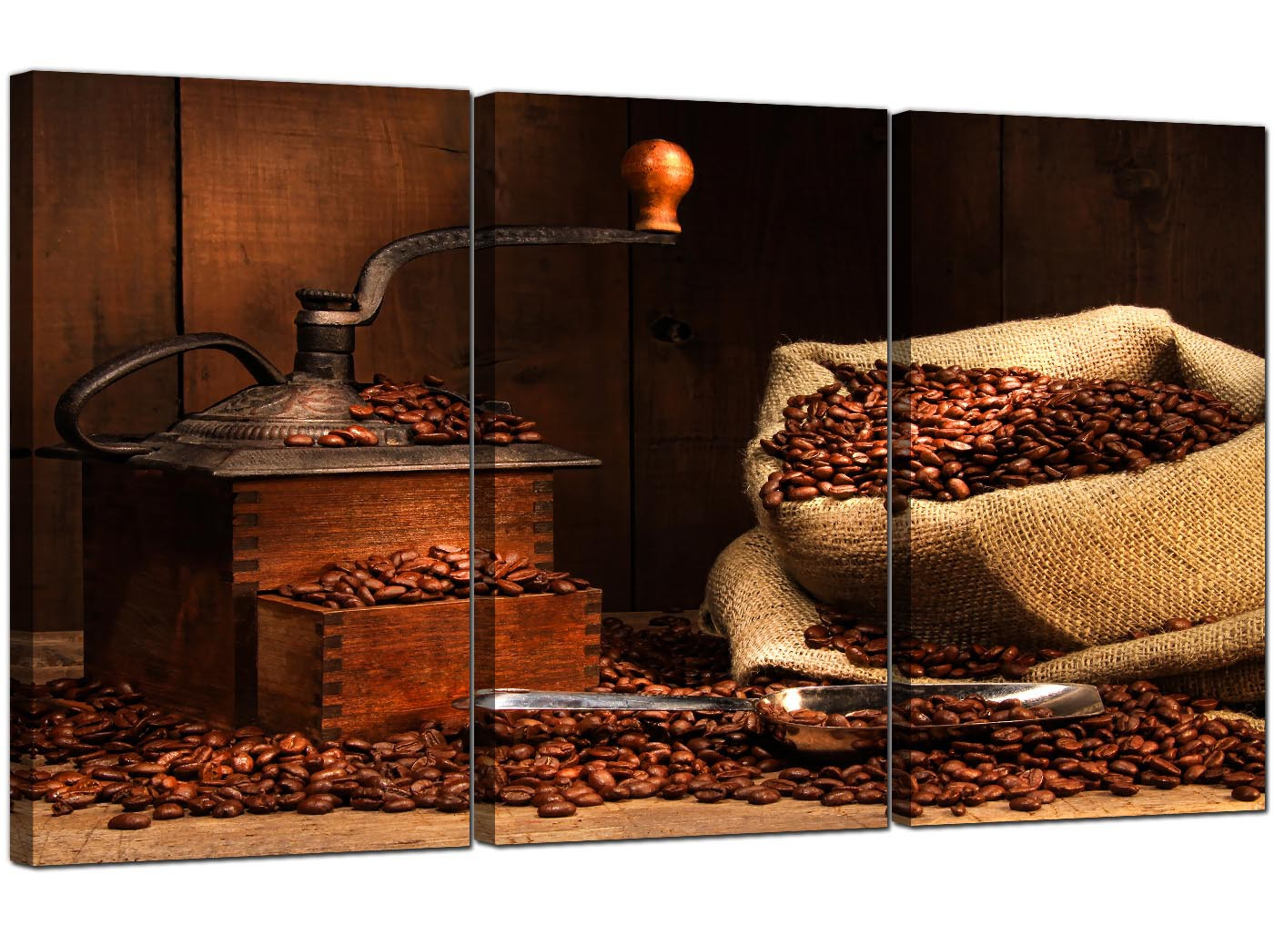 Coffee Beans Canvas Wall Art Set Of Three For Your Dining Room