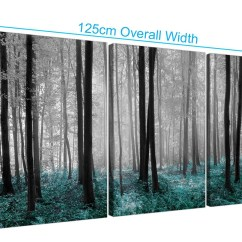 Sofa Art Gallery Cheap Recliner Sectional Sofas Set Of Three Canvas Teal Forest Trees Prints