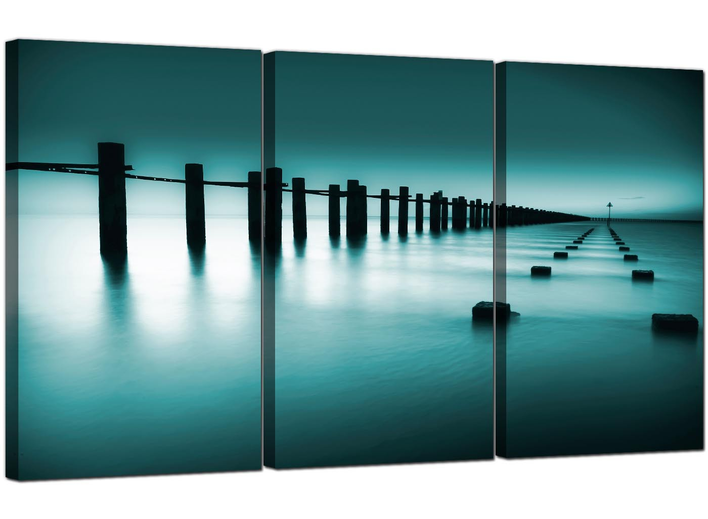 Sea Canvas Prints UK Set Of 3 For Your Bathroom