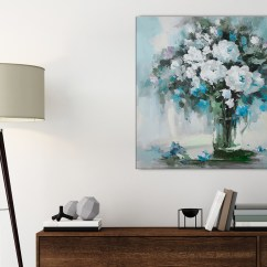Best Small Sofa Bed Uk Crate And Barrel Davis Teal White Flowers Painting Bathroom Canvas Wall Art ...