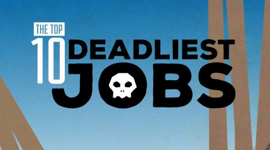 the top 10 deadliest jobs infographic