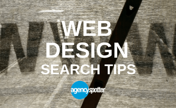 web design agency search tips