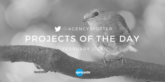 Agency spotter projects of the day february 2018