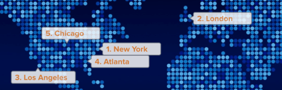 Top 5 Cities For Agency Search On Agency Spotter