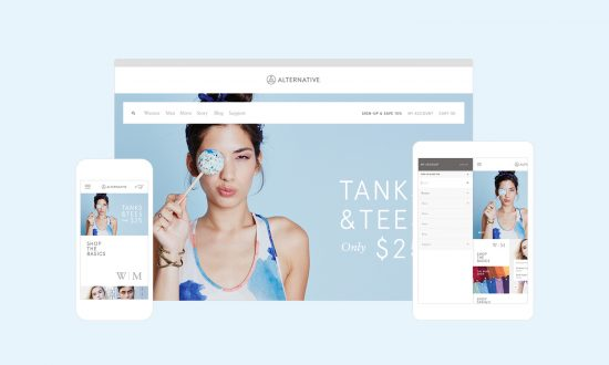 E-commerce agency Instrument and the Alternative Apparel website.