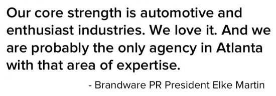 Quote from Elke Martin of Atlanta PR firm Brandware PR