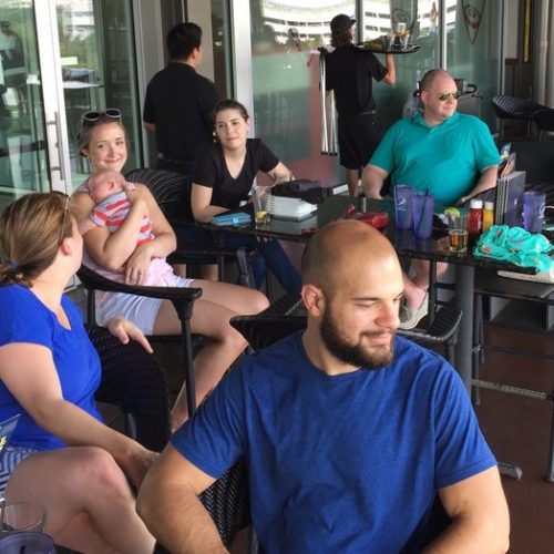 Hanging out at top golf