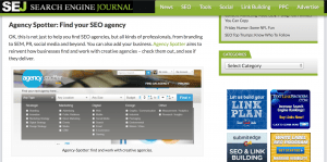 Agency Spotter Makes SEO Journal Top 10 Of 2012